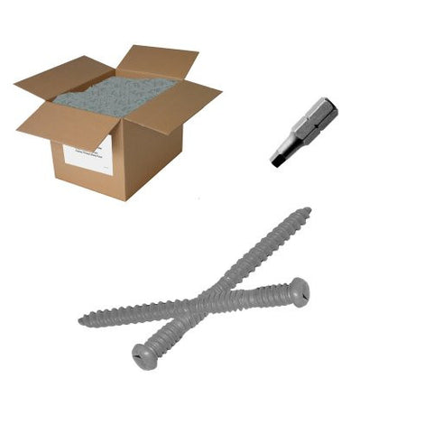 "25 lb 10x2-1/2"" Gray Composite Screw-Square Drive"