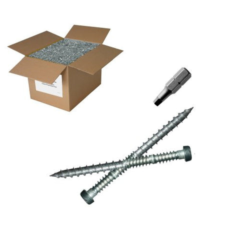 "25 lb 10x2-1/2"" Stainless Steel Composite Screw"