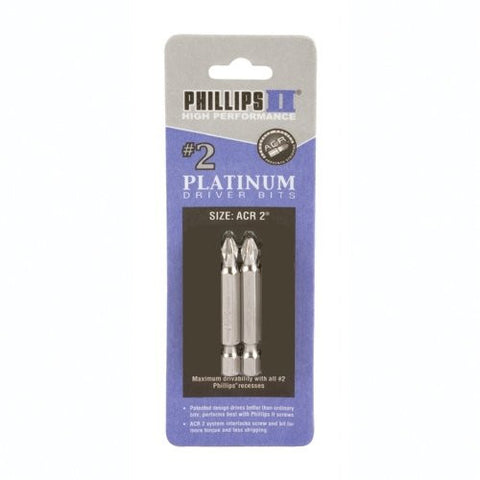 "#2 Phillips with ACR Bits 2"" 2pk"