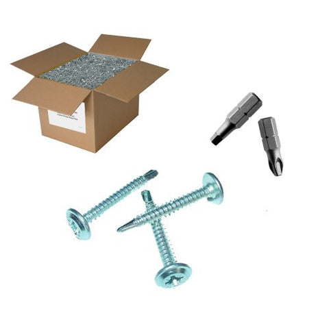 "25 lb 8x1-5/8"" Lath Screws - Drill point"