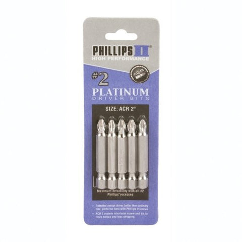 "#2 (3 2PK of 80202) Phillips with ACR Bit 2"" 6pk"