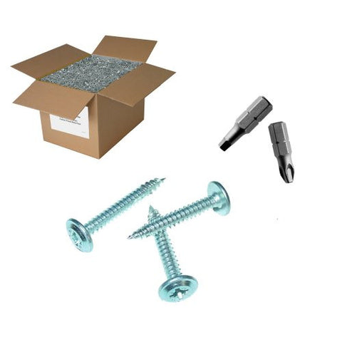 "25 lb 8x1-5/8"" Lath Screws - Sharp point"