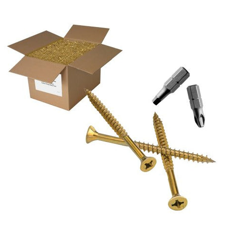 "25 lb 7x1-5/8"" FLAT hd Construction screw"