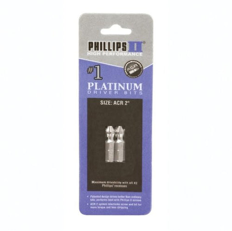 "#1 Phillips with ACR bits 1"" 2 pk"