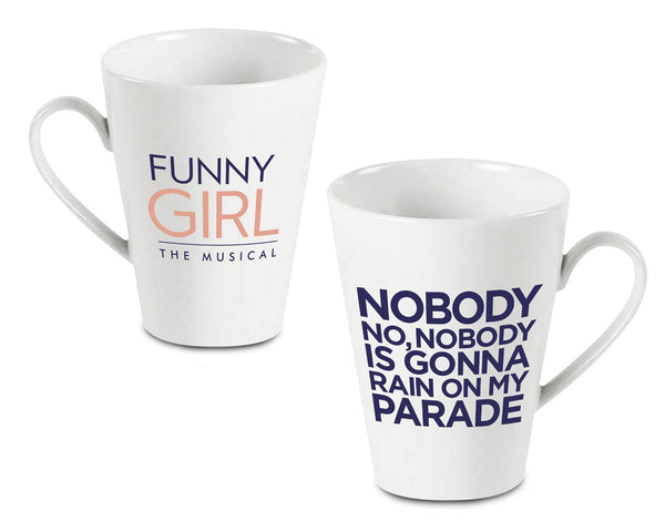 White Funny Girl Latte Mug