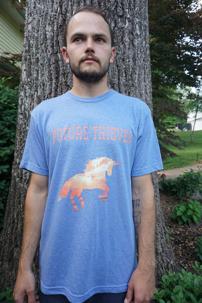 Blue Unicorn Short Sleeve T-Shirt