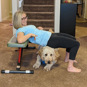 Workout With Your Dog - Glute Bridge & Dog Crawling