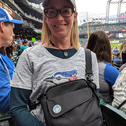 On the Fly Jasper Swag Dog Walking Bag at Blue Jays Game