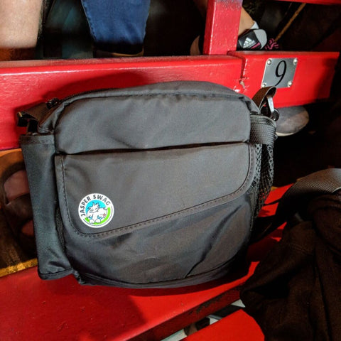 On the Fly Jasper Swag Dog Walking Bag at Vancouver Canadians ball game