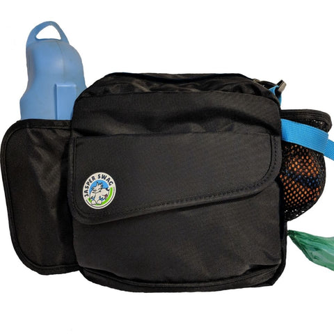 On the Fly Jasper Swag Dog Walking Bag with Water, Bottle and Poop Bag
