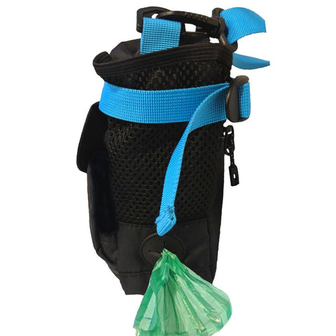 Mesh Pocket & Poop Bag Dispenser of On the Fly Jasper Swag Dog Walking Bag