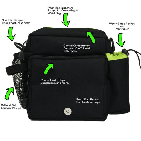 On the Go Jasper Swag Dog Walking Bag Features
