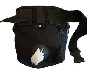 Back View of Jasper Swag Bag Mini Dog Treat Bag