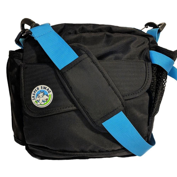 On the Fly Jasper Swag Dog Walking Bag with Turquoise Straps