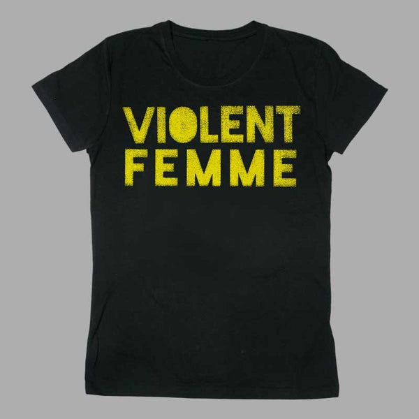 VIOLENT FEMME LOGO LADIES BLACK TEE