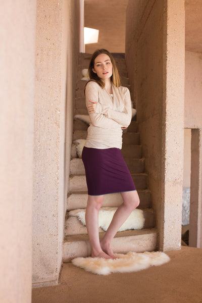 reversible skirt and metamorphose cardigan