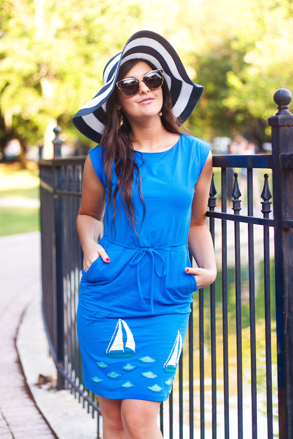 @carlymaddox in our Sailboat Molly Dress in Azul