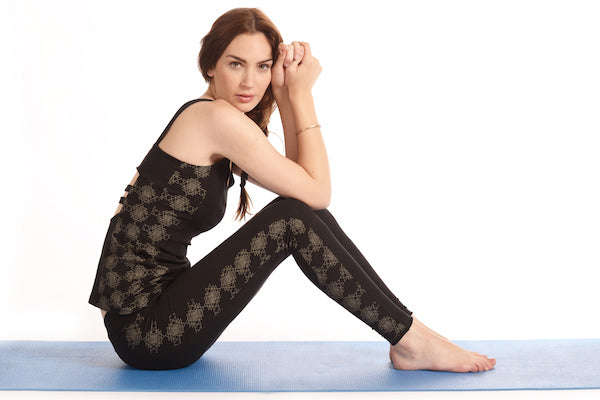 Sri Yantra Shakti Tank + Paneled Leggings