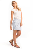 The Flax Ruched Mini Skirt