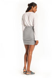 Essentials Ruched Mini Skirt