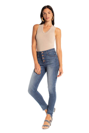 V-Neck Bodysuit CASHMERE / XS - Synergy Organic Clothing