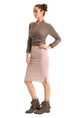Striped Strut Skirt AMBER STRIPE / XS - Synergy Organic Clothing