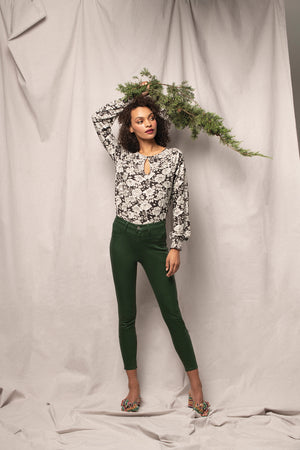 Holiday Floral Leah Top