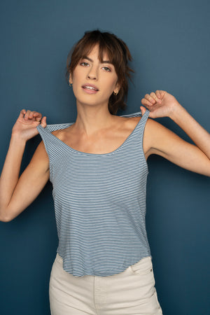 Striped Essence Tank  - Synergy Organic Clothing