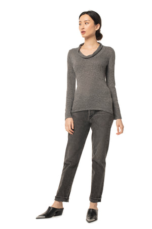 Beloved Cowl Neck CHARCOAL / XS - Synergy Organic Clothing