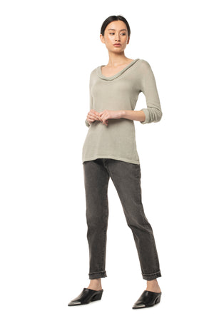Beloved Cowl Neck DESERT SAGE / XS - Synergy Organic Clothing