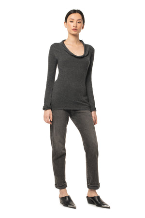 Beloved Cowl Neck OBSIDIAN / XS - Synergy Organic Clothing