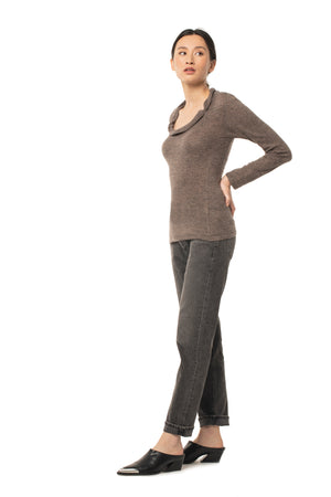 Beloved Cowl Neck SPICE BROWN / XS - Synergy Organic Clothing
