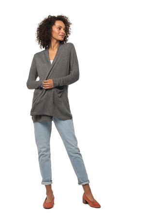 Santosha Cardigan CHARCOAL / XS - Synergy Organic Clothing