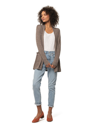 Santosha Cardigan SPICE BROWN / XS - Synergy Organic Clothing