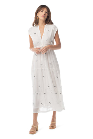 Jardin Dress EMBROIDERED TOFU / XS - Synergy Organic Clothing