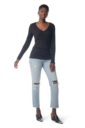 Easy V-Neck Long Sleeve  - Synergy Organic Clothing