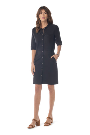 Justine Dress BLACK / XS - Synergy Organic Clothing