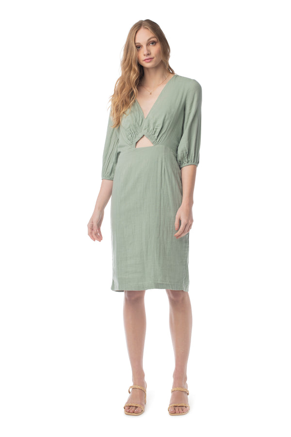 Raquel Dress LILY PAD / XS - Synergy Organic Clothing