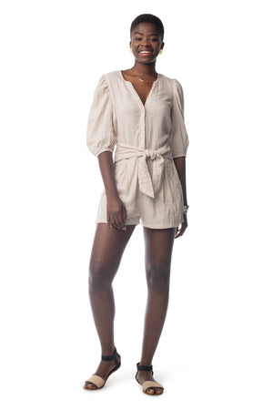 Cadence Romper CHATEAU GREY / XS - Synergy Organic Clothing