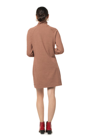 Herringbone Phoebe Dress  - Synergy Organic Clothing