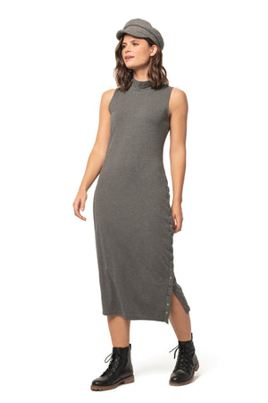 Zephyr Dress CHARCOAL / XS - Synergy Organic Clothing
