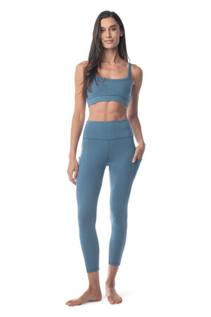 Go To Yoga Bra REAL TEAL / XS - Synergy Organic Clothing