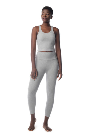 The 7/8 Legging HEATHER GREY / XS - Synergy Organic Clothing