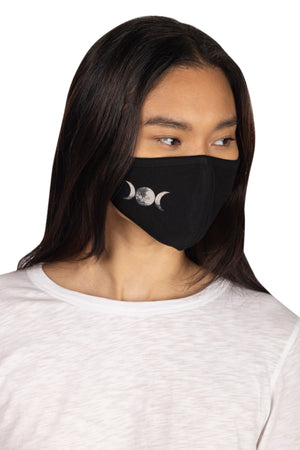 Adult Screen Print Face Mask MOONS / OS - Synergy Organic Clothing
