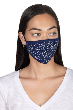 Adult Screen Print Face Mask STARS / OS - Synergy Organic Clothing