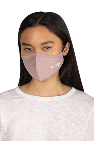 Adult Screen Print Face Mask BE KIND / OS - Synergy Organic Clothing
