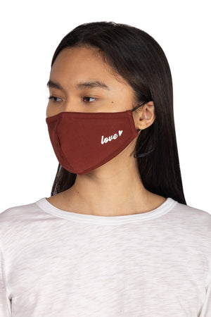 Adult Screen Print Face Mask LOVE / OS - Synergy Organic Clothing