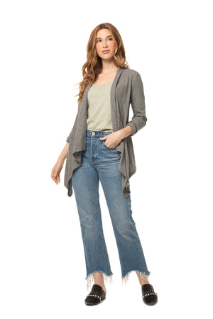 Cascade Cardigan CLASSIC GREY / XS - Synergy Organic Clothing