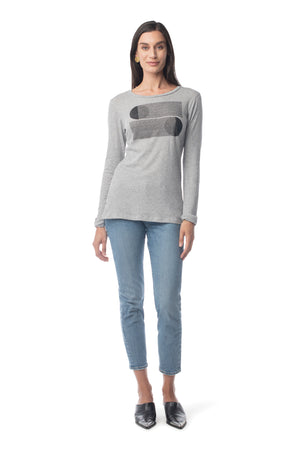 Shadow Ray Basic Long Sleeve Tee HEATHER GREY / XS - Synergy Organic Clothing