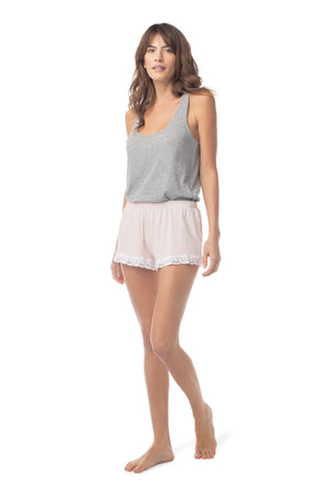 Bonsoir Sleep Short ROSE QUARTZ / XS - Synergy Organic Clothing